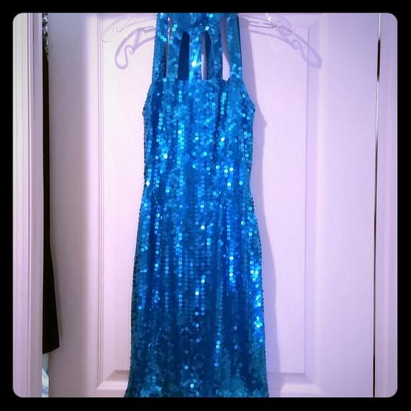 Original vintage 90 ' s sequin mini dress